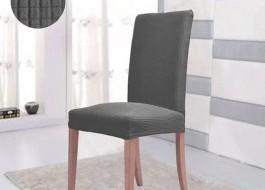 Husa elastica pentru scaun, culoarea gri