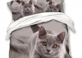 Lenjerie 3D finet 6 piese, Pucioasa, Pisica Scottish Fold FN3D35