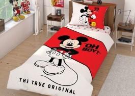Lenjerie de pat 1 persoana,TAC Disney 3 piese, Mickey Mouse Calinder