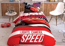 Lenjerie de pat 3 piese bumbac 100% ranforce, TAC Disney Cars Spectator