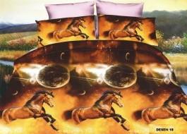 Lenjerie de pat 3D digital print-Horses-DP18