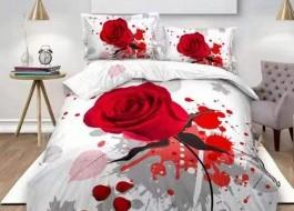 Lenjerie de pat 3D digital print, Ralex Pucioasa, Red Rose