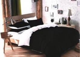 Lenjerie de pat alb cu negru MX89