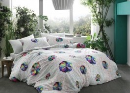 Lenjerie de pat de lux, bambus si bumbac, TAC Rainbow - Blue
