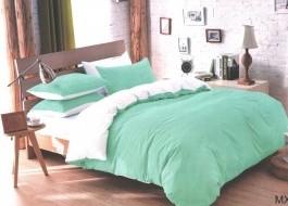 Lenjerie de pat bleu cu alb MX83