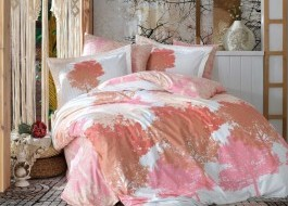 Lenjerie de pat bumbac 100% poplin, Hobby Home, July - Pink