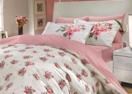 Lenjerie de pat bumbac 100% poplin, Hobby Home, Paris Spring - Pink