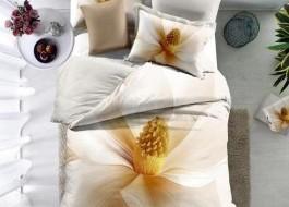 Lenjerie de pat bumbac 100% poplin satinat 3D, Ralex Pucioasa, Flower