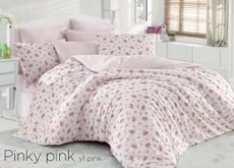 Lenjerie de pat bumbac 100% ranforce, Bahar Home, Pinky Pink V1 - Roz