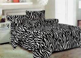 Lenjerii de pat Cocolino, model alb negru, Zebra v02