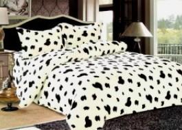 Lenjerie de pat Cocolino, alb-negru, Dalmatian, cod L7