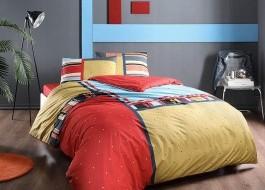 Lenjerie de pat cu elastic pentru saltea de 160x200cm, bumbac 100% ranforce, TAC, Dexter