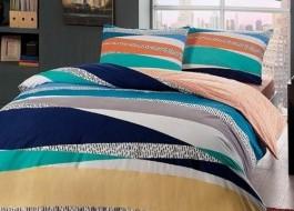 Lenjerie de pat cu elastic pentru saltea de 160x200cm, bumbac 100% ranforce, TAC, Genesis