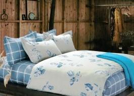 Lenjerie de pat cu elastic ptr saltea de 140x200cm , 140EL-Jasmin
