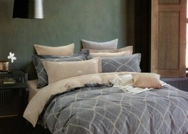 Lenjerie de pat cu elastic ptr saltea de 160x200cm , 160EL-Fleurette
