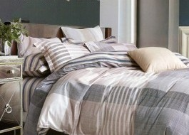 Lenjerie de pat cu elastic ptr saltea de 180x200cm , EL180Rafles