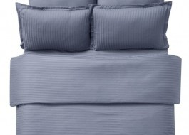 Lenjerie de pat damasc 1 persoana culoarea antracit