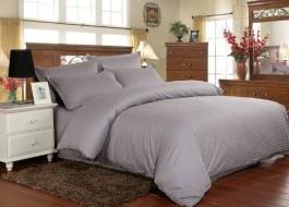 Lenjerie de pat damasc cu 6 piese culoarea gri