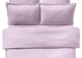 Lenjerie de pat damasc cu 6 piese culoarea roz