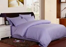 Lenjerie de pat damasc cu elastic ptr saltea de 100cm - mov