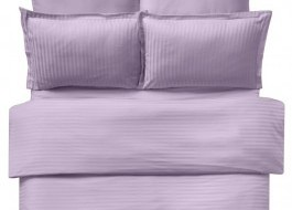 Lenjerie de pat damasc satinat culoarea lila