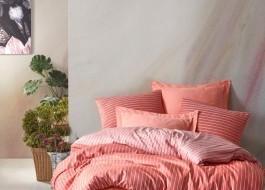 Lenjerie de pat de lux, bambus si bumbac satinat, Cotton Box, Bamboo Somon