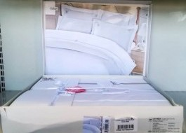 Lenjerie de pat de lux cu broderie, Cotton Box, Guher - cutie deteriorata, produs intact