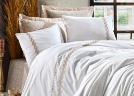 Lenjerie de pat de lux cu broderie, Cotton Box, Ines Bej