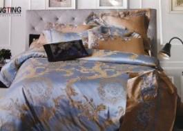 Lenjerie de pat de lux jacquard -Sophia Blue-J17