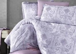 Lenjerie de pat de lux jacquard satin, Kosa V1 Lilac