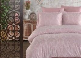 Lenjerie de pat de lux jacquard satin, Rossa Pink
