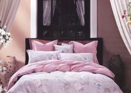 Lenjerie de pat din fibra de bambus-Roz Prafuit- BM45