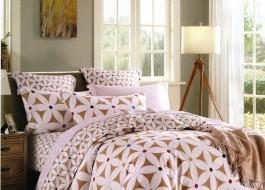 Lenjerie de pat din fibra de bambus-Crem Maroniu-BM46