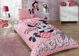 Lenjerie de pat TAC Disney 3piese Minnie Mouse Dream