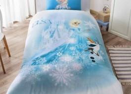 Lenjerie de pat TAC Disney 3piese Frozen Elsa & Olaf