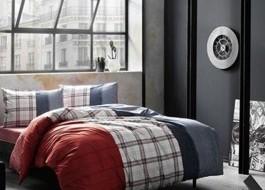 Lenjerie de pat cu elastic pentru saltea de 160x200cm, bumbac 100% ranforce, TAC, Cloud