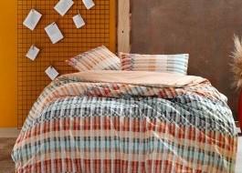 Lenjerie pat cu elastic pentru saltea de 160x200cm, bumbac 100% ranforce, TAC, Luke