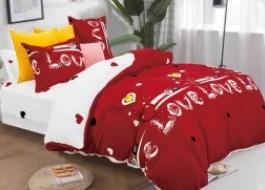 Lenjerie de Pat dublu Cocolino, Pucioasa, Love Red