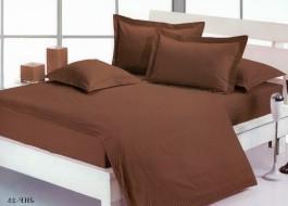 Lenjerie de pat dublu damasc culoarea maro inchis