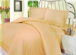 Lenjerie de pat dublu damasc culoarea bej