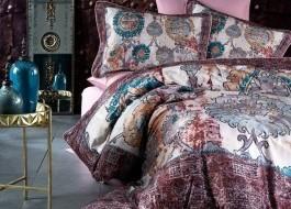 Lenjerie de pat dublu satin de lux, Club Cotton, Vogue
