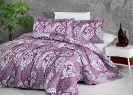 Lenjerie de pat dublu satin de lux, Giralda Purple