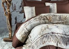 Lenjerie de pat dublu satin de lux, Marie Lou, Nature Akura