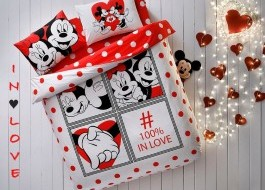 Lenjerie de pat dublu Tac Disney Minnie & Mickey Dotty