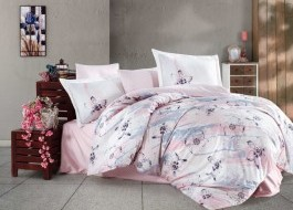 Lenjerie de pat exclusive satin de lux, Hobby Home, Birsha Pink