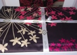 Lenjerie de pat exclusive satin de lux, Hobby Home, Fiorella - Dark Grey - resigilata