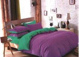 Lenjerie de pat mov cu verde MX22