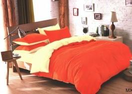 Lenjerie de pat portocaliu cu crem MX20