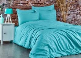 Lenjerie de pat premium satin de lux, Club Cotton, Stripe Mint