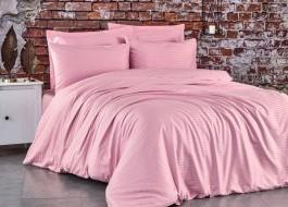 Lenjerie de pat premium satin de lux, Club Cotton, Stripe Roz